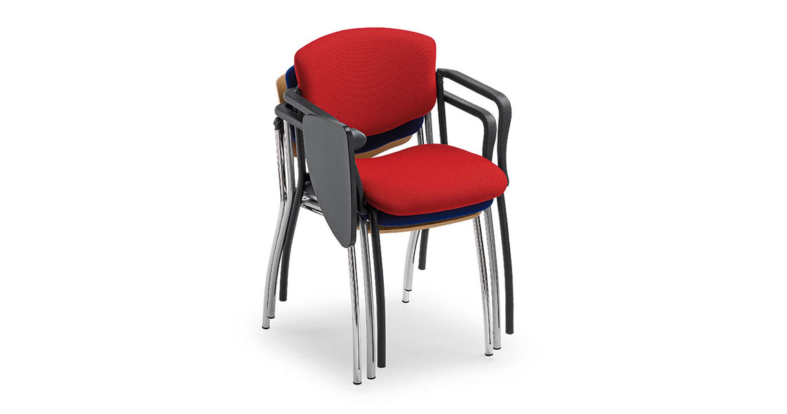 chaise de collectivit avec tablette critoire leyform. Black Bedroom Furniture Sets. Home Design Ideas