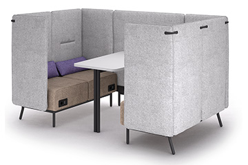 canapes office pod pour espace ouvert rivees Around Lab