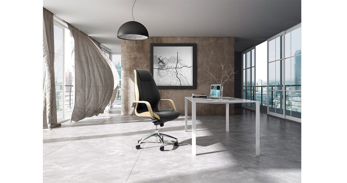 Chaise de bureau directeur design en cuir siege de bureau for Dau srl design arredo ufficio
