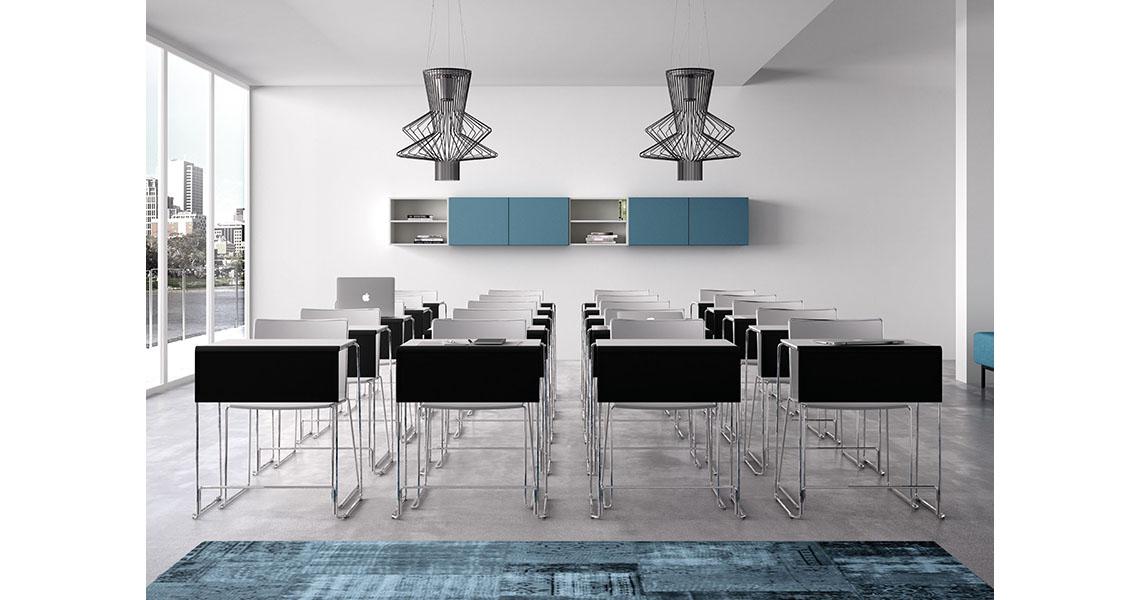 chaise de collectivit avec tablette rabattable pour salle polyvalente leyform. Black Bedroom Furniture Sets. Home Design Ideas