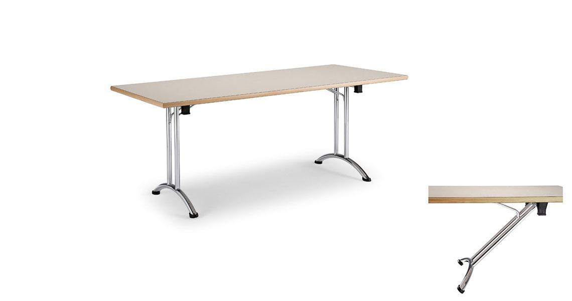 tables pliantes avec pieds repliables pour salles de conference leyform. Black Bedroom Furniture Sets. Home Design Ideas